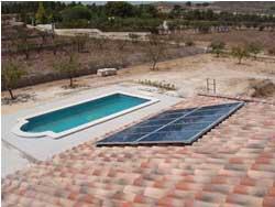 Energía solar para calentar piscinas