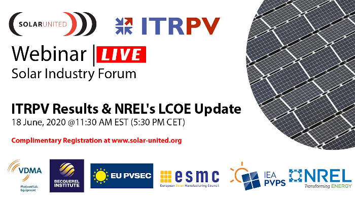 ITRPV Results and NREL´s LCOE Update.