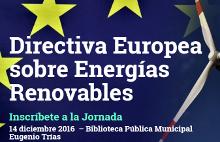 Jornada sobre la Directiva Europea sobre Energías Renovables