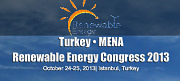 The Turkey-MENA Renovable Energy Congress 2013.