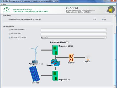 Diafem Dimensionamiento de Instalaciones Fotovoltaicas, Eólicas o Mixtas