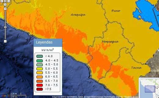 Radiación solar Perú