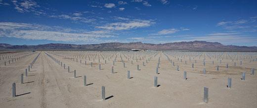 Planta de First Solar en construcción.