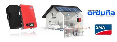 Mayor tasa de Autoconsumo Fotovoltaico en hogares gracias al SMA SB3600 Smart Energy distribuido por Suministros Orduña