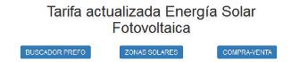 Recopilación histórica de Tarifas Fotovoltaica